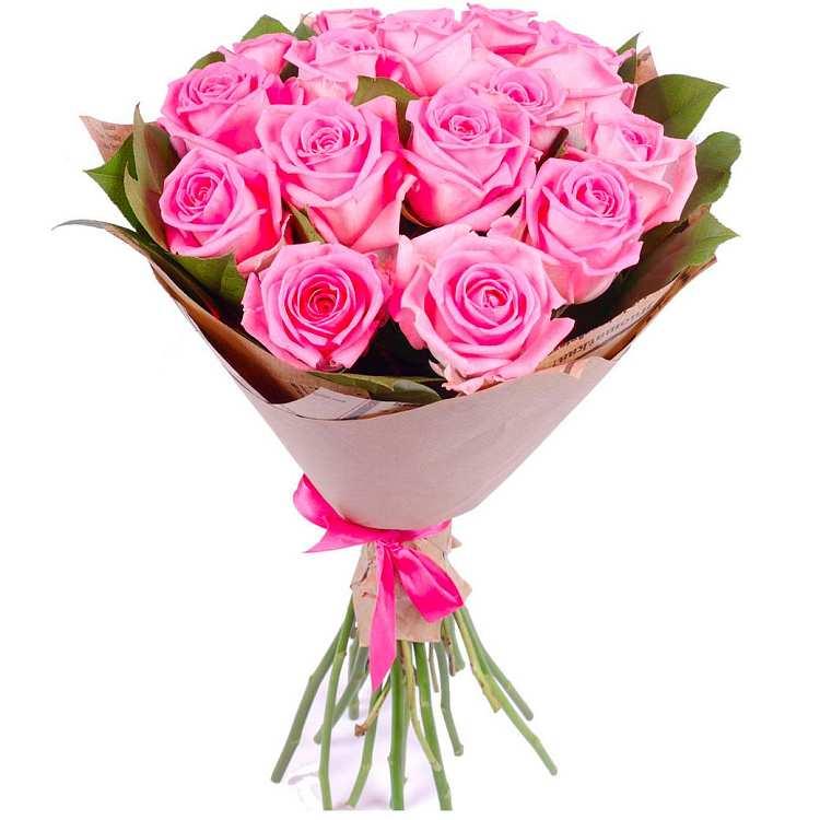 Оформить в букет розы